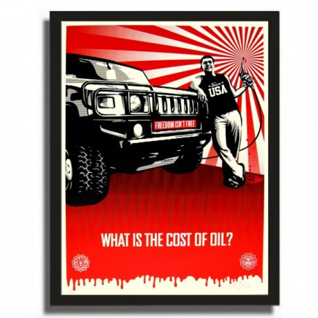 Shepard FAIREY - Cost of Oil (2008)