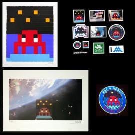 INVADER - ART4SPACE set