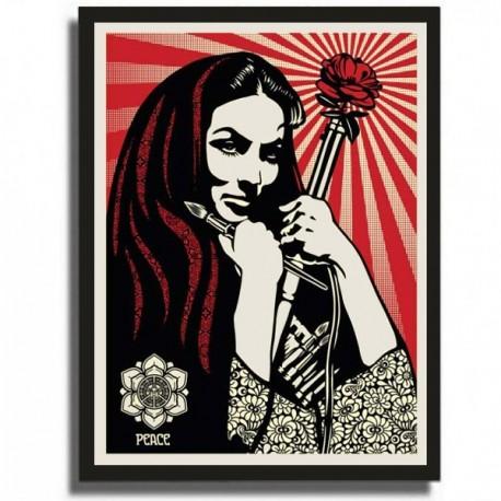 Shepard FAIREY - Revolutionary Woman with Brush