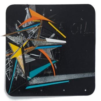 GILBERT1 - Mixed Media on metal board