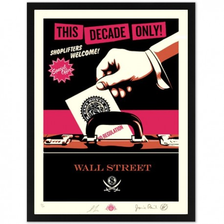 Shepard FAIREY - Shoplifters Welcome (Rose large)