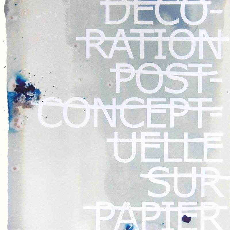 Rero d coration post conceptuelle sur papier for Peinture conceptuelle