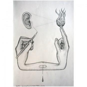 ROTI - Sans titre 1 - Dessin au crayon