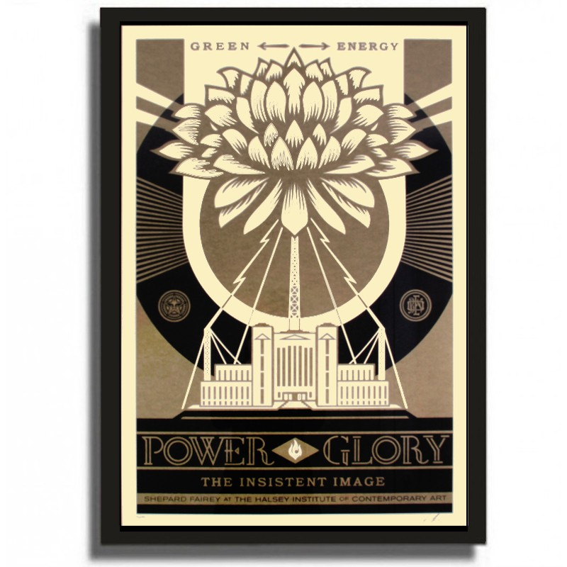 Shepard Fairey Green Power Gold Large