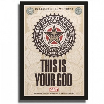 Shepard FAIREY - This is your god - Lesser Gods (2003)