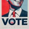 Shepard FAIREY - VOTE - Official campaign screenPrint