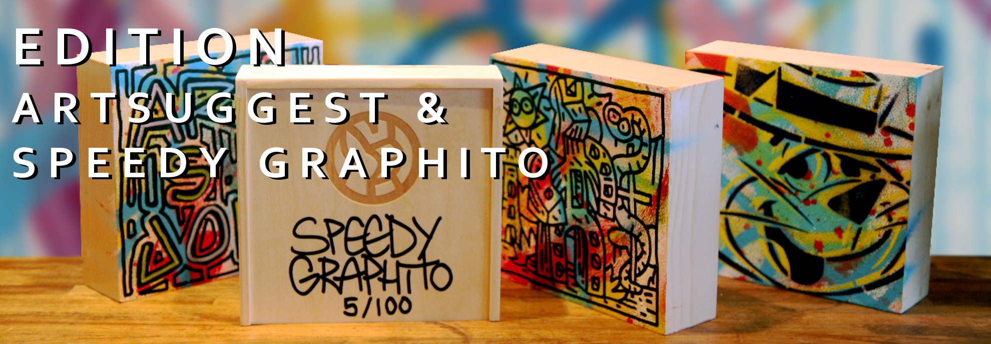 Wooden box by SPEEDY GRAPHITO