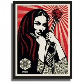 Shepard FAIREY - Revolutionary Woman with Brush