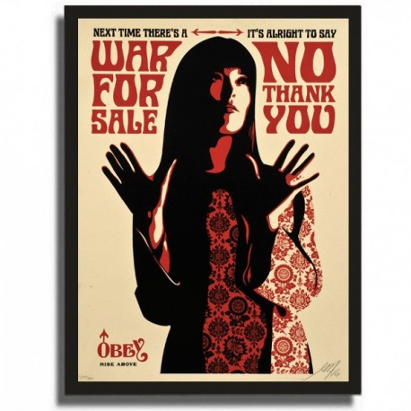 Shepard FAIREY - WAR FOR SALE (CREAM)
