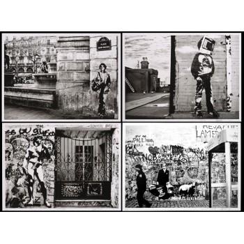 Blek Le Rat - Art Is Not Peace But War (4 works)