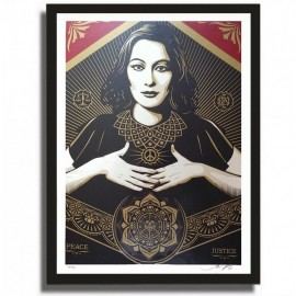 Shepard FAIREY - Peace and Justice Woman