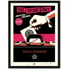 Shepard FAIREY - Shoplifters Welcome (Pink Large)