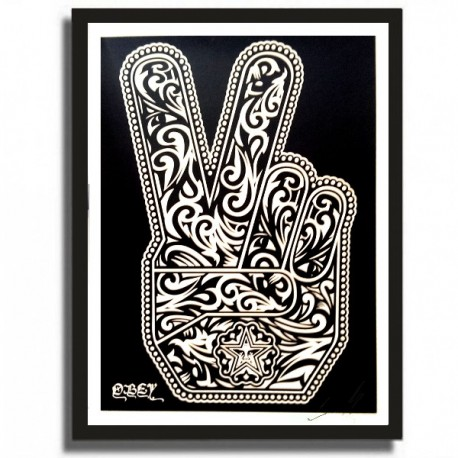Shepard FAIREY - PEACE FINGERS (White)