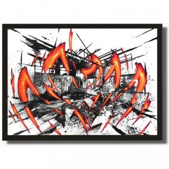 KATRE - K. Ivry Fire - Mixed media on paper