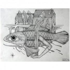 ROTI - Sans titre 3 - Dessin au crayon
