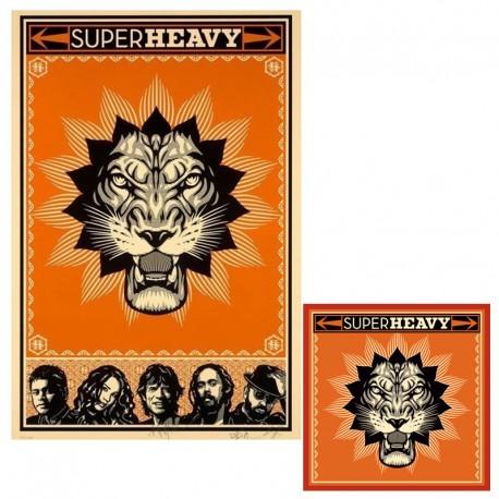 Shepard FAIREY - Super heavy - Screen print and vinyl cover
