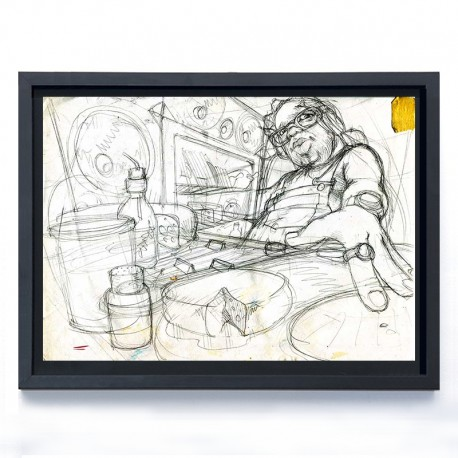LAZOO - STREET LEVEL - ink on paper