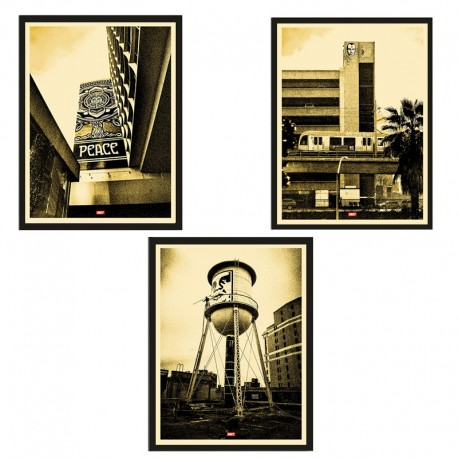 Shepard FAIREY - COVERT TO OVERTS set GOLD