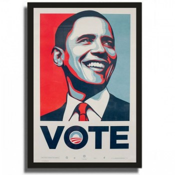 Shepard FAIREY - VOTE - Official campaign screenPrint