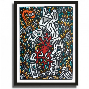 SPEEDY GRAPHITO - Etching - FLORAISON