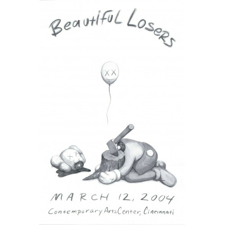 KAWS -BEAUTIFUL LOSERS EXHIBITION POSTER, 2004