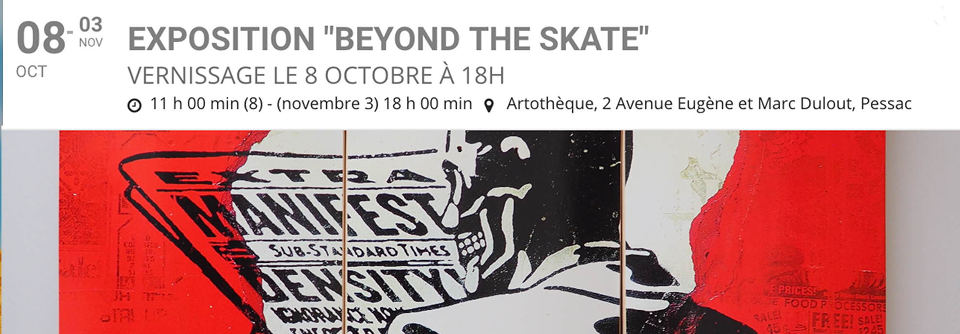 Beyond the skate - Exhibition PESSAC 2019
